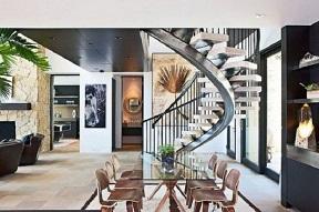 Cầu thang làm bằng đá hoa cương sẽ mang đến cho bạn công trình tuyệt mỹ